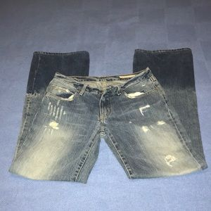 Chips & pepper distressed blue jeans.size 26